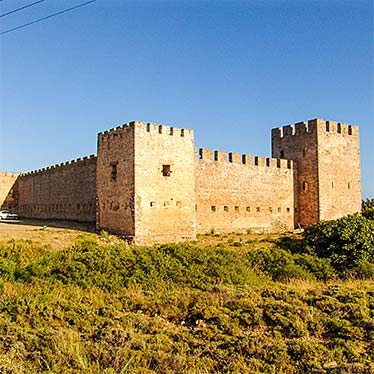 The castle in Frangokastello, Crete